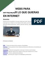 30 Sitios Webs Para Aprender Lo Que Quieras en Internet