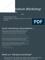 literature workshop presentation