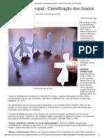 Psicoterapia Grupal - Classificação Dos...Rtigos de Psicologia - Portal Educação