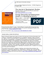 Employment effect of FDI