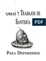 Obras y Trabajos de Santeria Para Defenderse