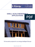 Intelligen Energy - SMALL SCALE RENEWABLE - 15 innovative projects for an energy-intelligent Europe