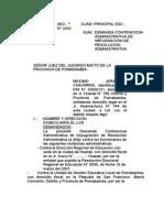 Demanda Contenciosa Administrativa de Impugnación de Resolucion Administrativa