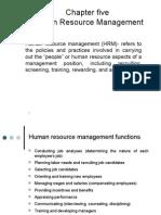 Human Resource Management - Chapter 5