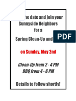 Spring Clean-Up & BBQ