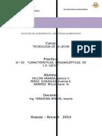 Informe 03. Caracteristicas Organolepticas.