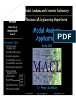Modal Analysis Applications Spring2002 MACL