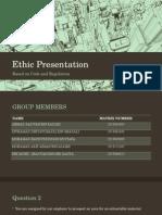 Ethic IEM Presentation