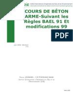 COURS de BÉTON ARME-Suivant Les Règles BAEL 91 Et Modifications 99