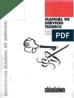 Manual de Servicio Tecnico Desmalezadoras Shindaiwa