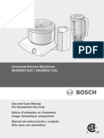 Bosch Universal Plus Owners Manual