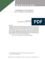 Artículo (Modelo) IDEAS Y VALORES Compromiso Ontológico de La Música Occidental