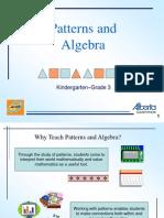 Patterns and Algebra K-3 PowerPoint