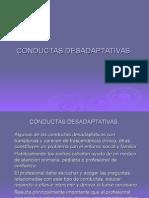 CONDUCTAS DESADAPTATIVAS