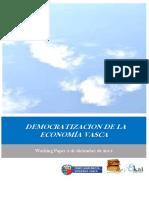 DEMOCRATIZACION DE LA ECONOMIA VASCA