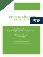 Tutorial Básico de Excel 2016