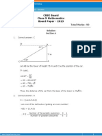 700000632 CBSE 10 Maths BoardPaper2013Solution