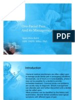 Oro-facial pain and its management