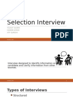 Types of interviews - HRM