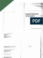 GEOPHYSICAL FLUID DYNAMICS FOR OCEANOGRAPHERS-Von Schwind(1980)
