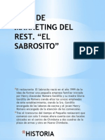 Plan de Marketing Del Rest