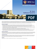 M Tech Software Systems