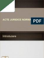Acte juridice normative