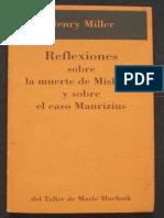 Reflexiones Sobre La Muerte de - Henry Miller