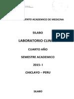 Silabo - Laboratorio Clínico 2015
