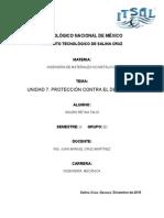 PROTECCIÓN CONTRA EL DETERIORO EN LOS MATERIALES