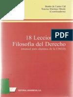 Libro 18 Lecciones de Filosofía Del Derecho
