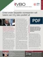 Enkel onder bepaalde voorwaarden valt balans van CO2-taks positief uit, Infor VBO 13, 1 april 2010