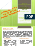metodos cuantitativos para la recoleccion de datos primarios
