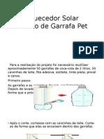 Aquecedor Solar Caseiro de Garrafa Pet
