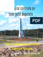 Structural controls on lode gold deposits