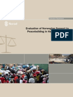 NORAD. Evaluation of Norwegian Support to Peacebuilding in Haiti 1998 2008