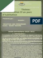 Réhabilitation D'Un Parc d'Habitation
