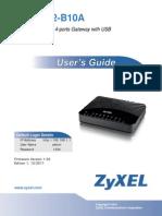 Ftp Ftp.zyxel.com VMG1312-B10A User Guide VMG1312-B10A 1.00