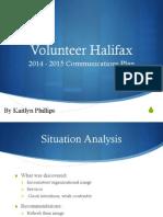 Volunteer Halifax Communications Plan Presentation