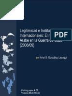 Legitimidad e Instituciones Internacionales