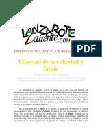 Nietzsche - Libertad de La Voluntad y Fatum