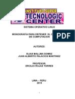 Monografia Sistema Operativo Linux