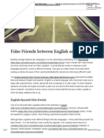 False Friends between English and Spanish | OxfordWords blog