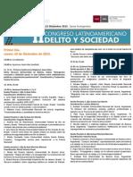UNL - FCJS - II Congreso Latinoamericano Delito y Sociedad - Programa (1)