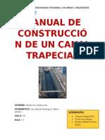 Manual de Construcción de Un Canal