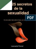 Los 25 Secretos de La Sexualidad. [Libro Sobre Sexualidad PDF]