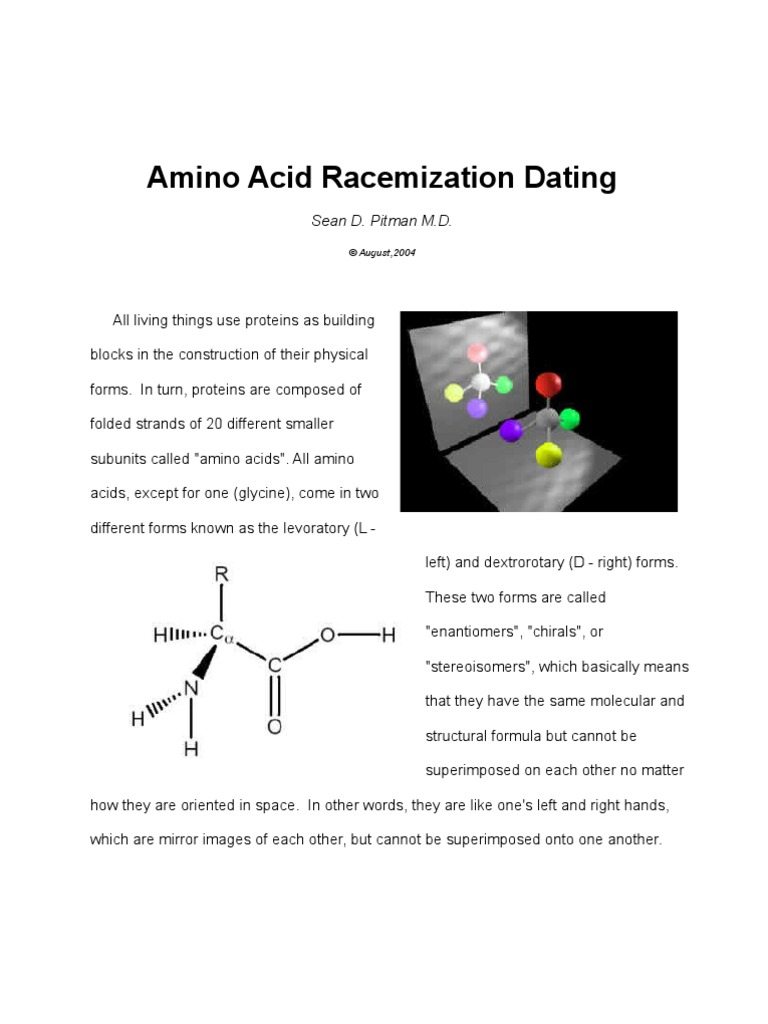 Amino acid racemization dating of fossil bones