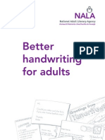 Better Handwriting for Adults