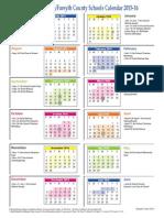 2015-16 student calendar color