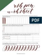 Brush Pen Worksheet (Postman Knock)